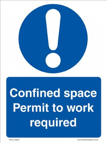 Confined space permit to work required